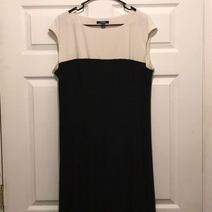 Women's Chaps. Black and cream colored dress